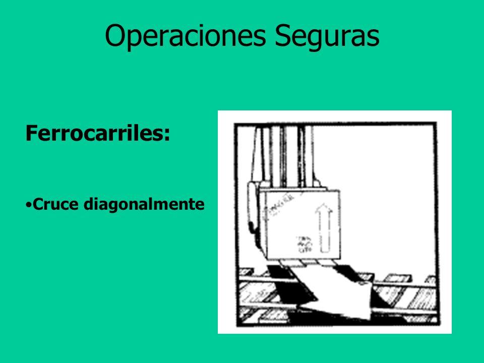 Operaciones Seguras Si deja su montacargas desatendido: Ganchos en el suelo Motor apagado Frenos puestos Ruedas bloqueadas
