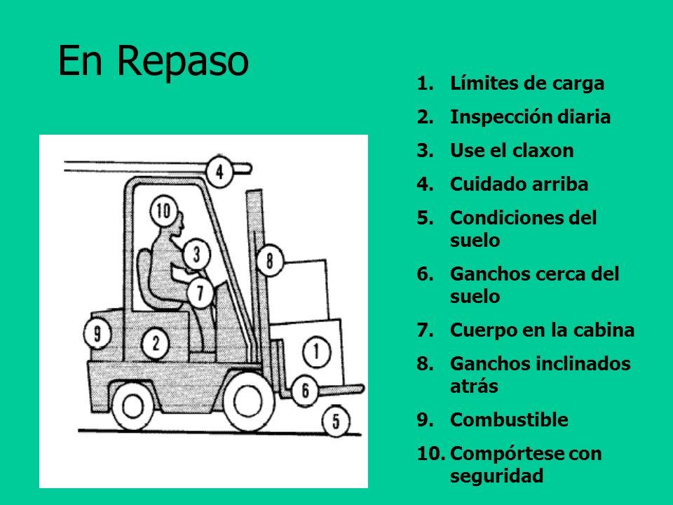 Operaciones Seguras Si sucede un accidente: Repórtelo. No vuelva a manejar hasta que se investigue.