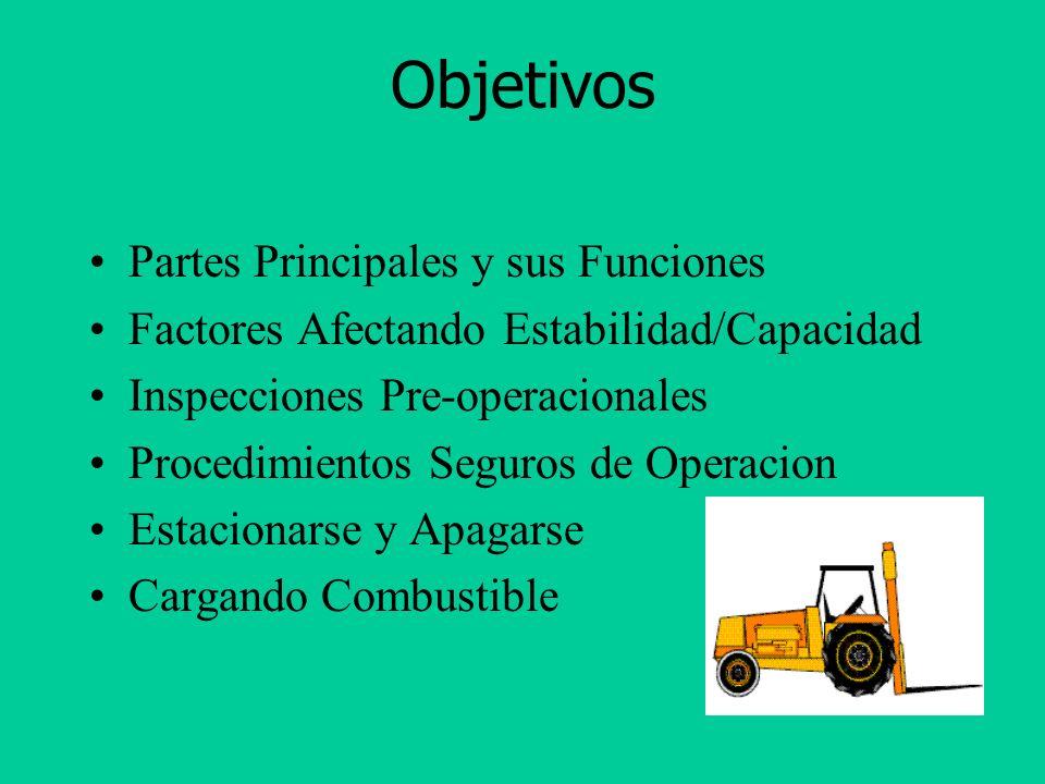 Requisitos de Cumplimiento Programa por escrito sobre los montacargas Condiciones de operación específicas al sitio Montacargas específicos al sitio C