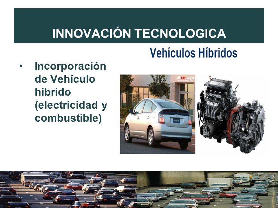 INNOVACIÓN TECNOLOGICA Incorporación de Vehículo hibrido (electricidad y combustible)