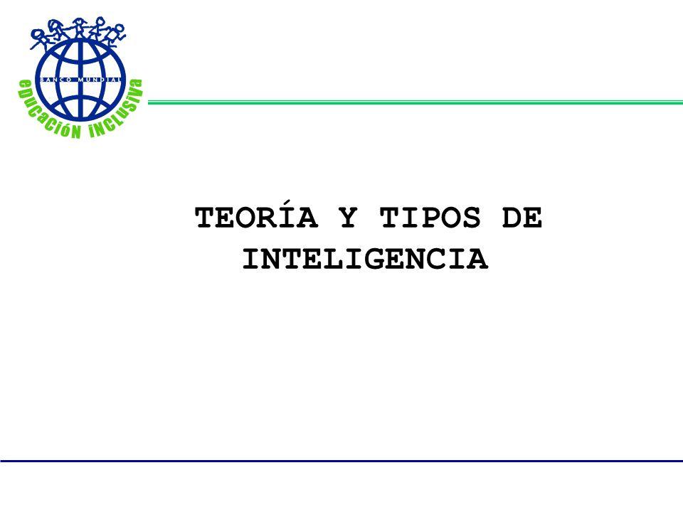 TEORÍA Y TIPOS DE INTELIGENCIA