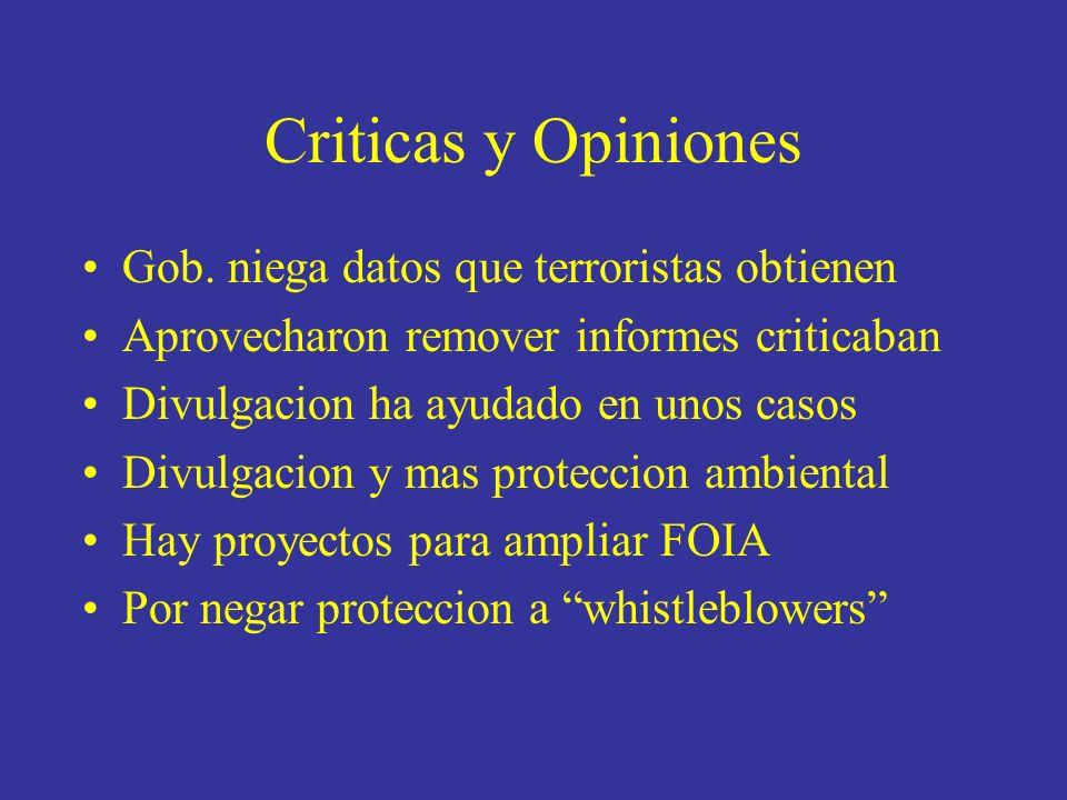 Criticas y Opiniones Gob.