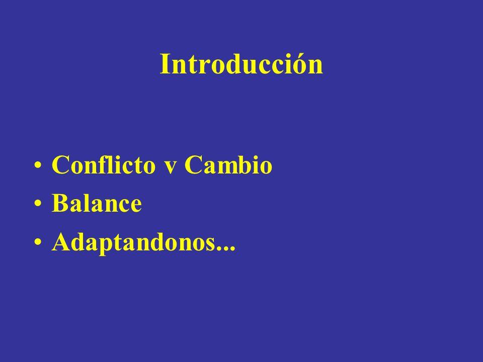 Introducción Conflicto v Cambio Balance Adaptandonos...