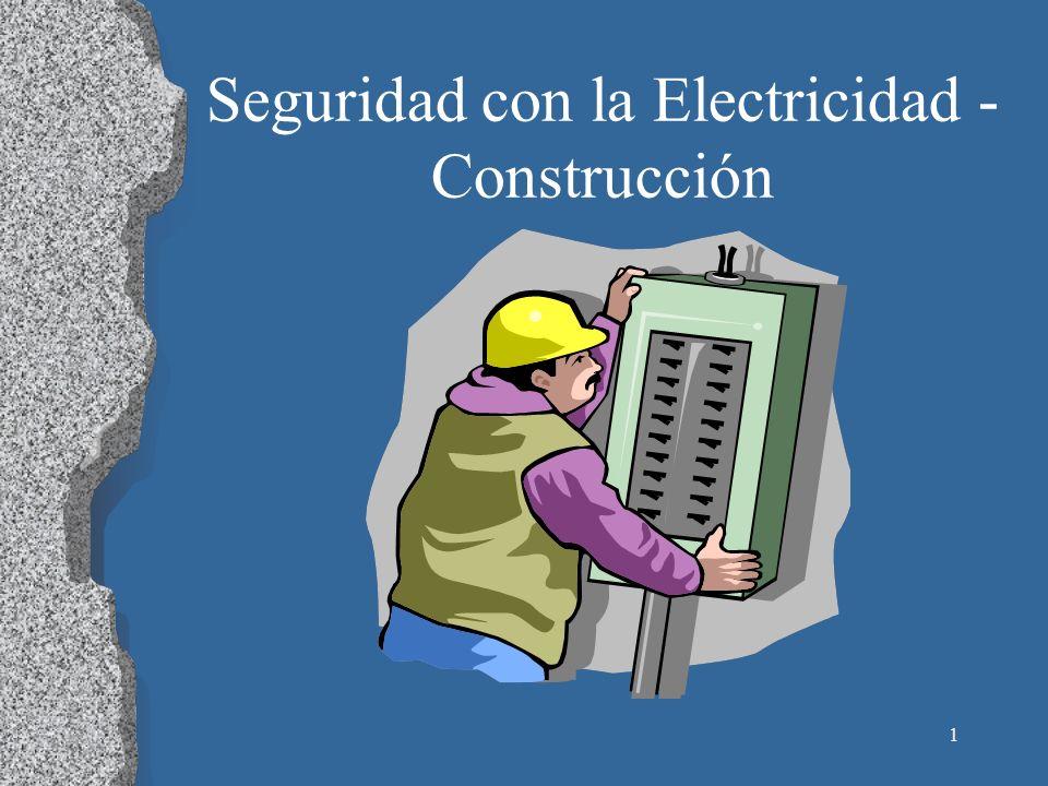 2 La Electricidad 5 trabajadores se electrocutan cada semana Causa el 12% de los muertos de trabajadores jóvenes Muy poca electricidad puede lastimar mucho Riesgo significante de incendios