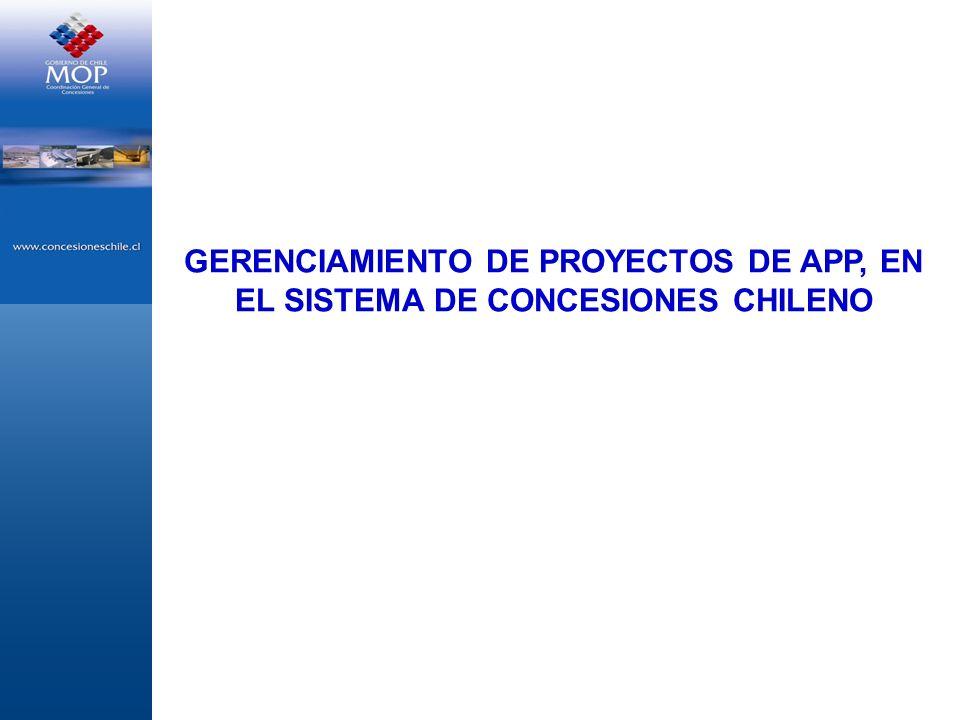 GERENCIAMIENTO DE PROYECTOS DE APP, EN EL SISTEMA DE CONCESIONES CHILENO