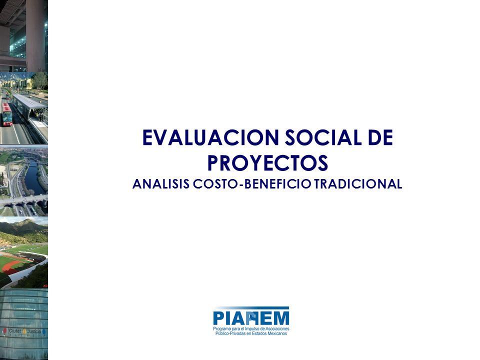 EVALUACION SOCIAL DE PROYECTOS ANALISIS COSTO-BENEFICIO TRADICIONAL