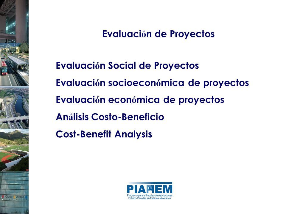 Evaluaci ó n de Proyectos Evaluaci ó n Social de Proyectos Evaluaci ó n socioecon ó mica de proyectos Evaluaci ó n econ ó mica de proyectos An á lisis