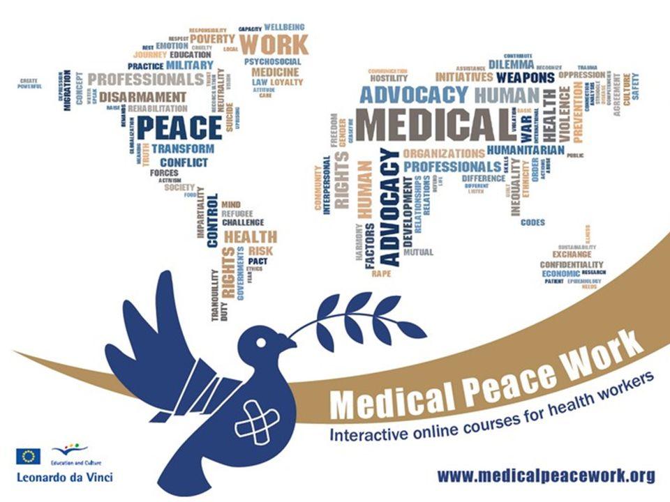 Objetivos de aprendizaje (2) Poner de relieve la amplia gama de diferentes maneras en que los trabajadores de la salud pueden contribuir a la reducción de los déficit de paz.