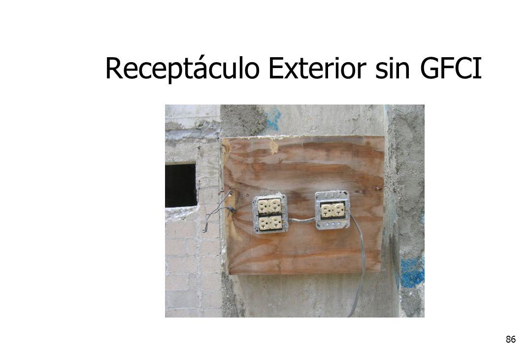 86 Receptáculo Exterior sin GFCI