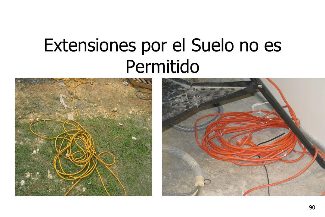90 Extensiones por el Suelo no es Permitido