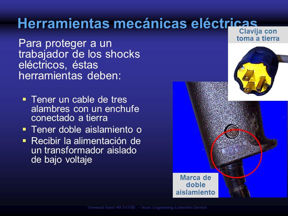 Harwood Grant 46F1-HT06 - Texas Engineering Extension Service Herramientas mecánicas eléctricas Para proteger a un trabajador de los shocks eléctricos