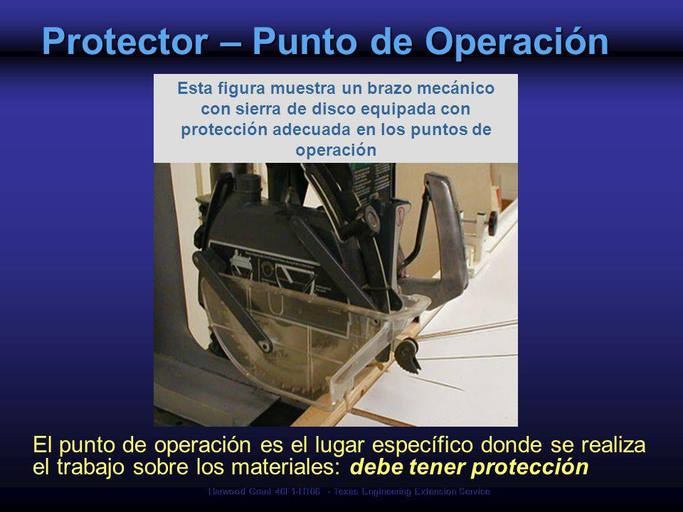 Harwood Grant 46F1-HT06 - Texas Engineering Extension Service Protector – Punto de Operación El punto de operación es el lugar específico donde se rea