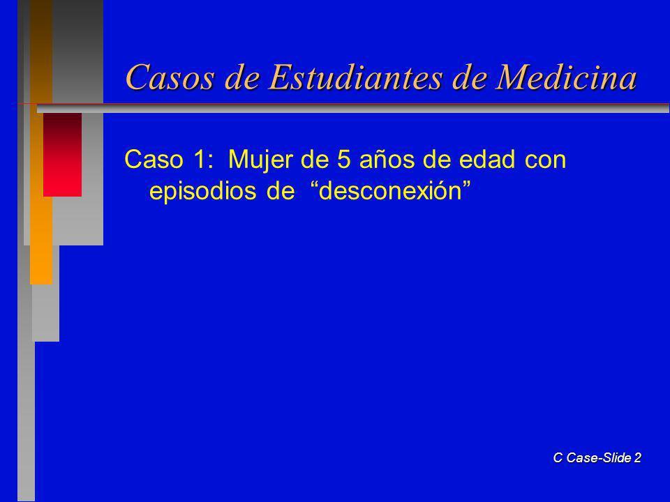 C Case-Slide 2 Casos de Estudiantes de Medicina Caso 1: Mujer de 5 años de edad con episodios de desconexión