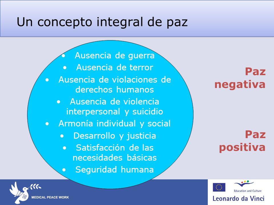 Un concepto integral de paz 2.