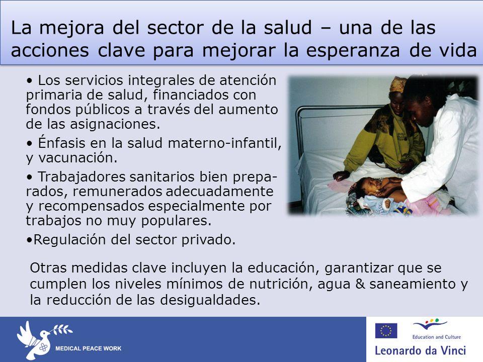 La mejora del sector de la salud – una de las acciones clave para mejorar la esperanza de vida Los servicios integrales de atención primaria de salud,