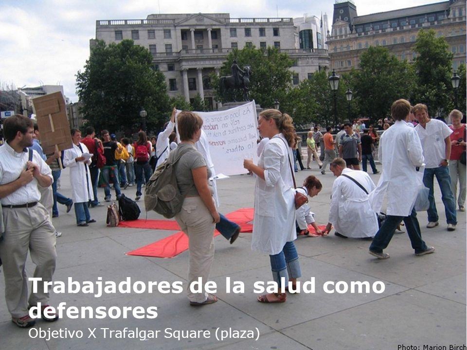 Trabajadores de la salud como defensores Objetivo X Trafalgar Square (plaza)