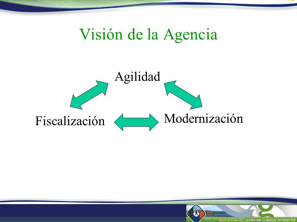 Visión de la Agencia Agilidad Modernización Fiscalización