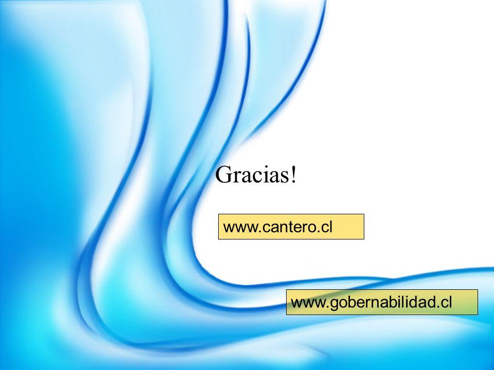 Gracias! www.cantero.cl www.gobernabilidad.cl