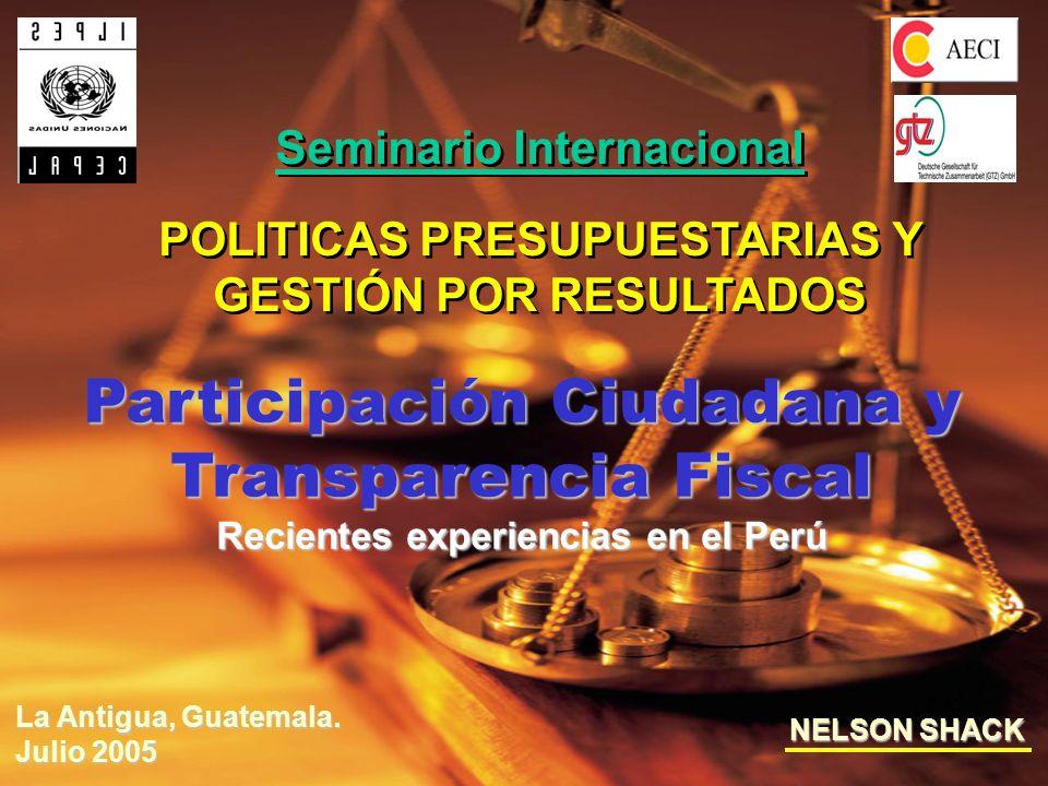 2 ILPES/CEPAL - AECI Seminario Internacional ILPES/CEPAL - AECI Seminario Internacional Índice de Contenido 1.Participación Ciudadana 1.1 El plan de desarrollo concertado y el presupuesto participativo 1.2 La operación piloto 2002/2003 y el presupuesto participativo 2004/2005 1.3 El aplicativo interactivo para el proceso participativo del presupuesto 2.