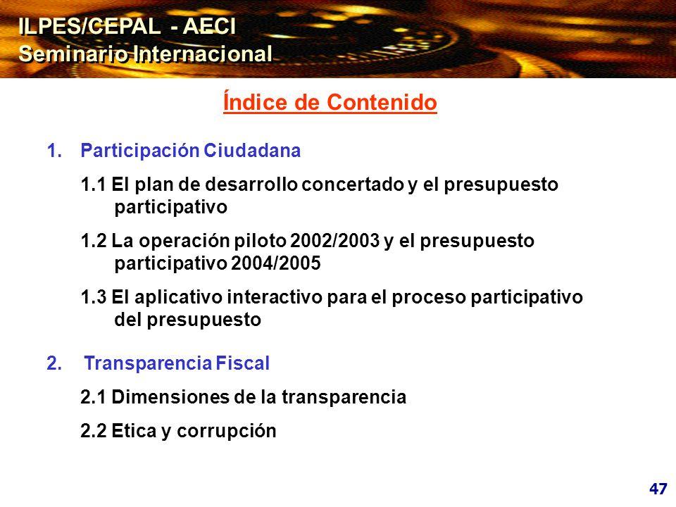 2.1 DIMENSIONES DE LA TRANSPARENCIA 2.1 DIMENSIONES DE LA TRANSPARENCIA DIPLOMA DE GESTIÓN PÚBLICA Gestión Económica y Financiera Gubernamental DIPLOMA DE GESTIÓN PÚBLICA Gestión Económica y Financiera Gubernamental
