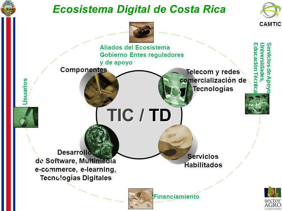 TIC / TD Telecom y redes comercialización de Tecnologías Componentes Desarrollo de Software, Multimedia e-commerce, e-learning, Tecnologías Digitales