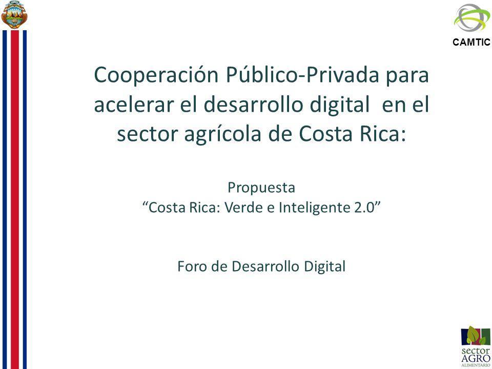 CAMTIC Cooperación Público-Privada para acelerar el desarrollo digital en el sector agrícola de Costa Rica: Propuesta Costa Rica: Verde e Inteligente