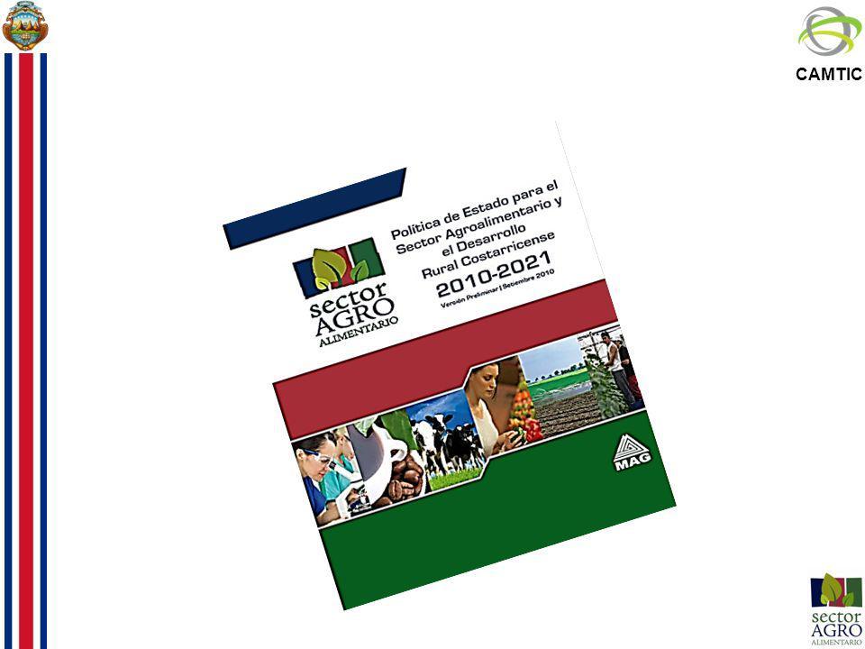 Política de Estado para el Sector Agroalimentario y el Desarrollo Rural Costarricense 2010-2021 Horizonte de largo plazo -La Costa Rica del bicentenario -Meta carbono neutral Proceso de consulta, negociación y concertación con el sector público y privado, académico y la sociedad civil.