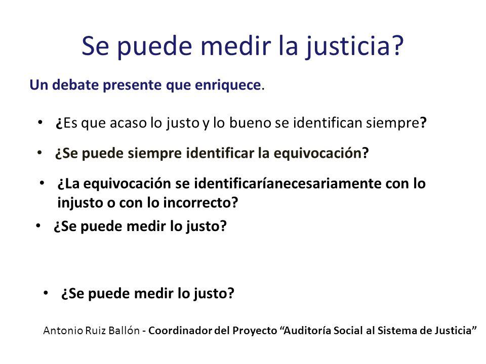 Se puede medir la justicia? Un debate presente que enriquece. ¿Es que acaso lo justo y lo bueno se identifican siempre? ¿Se puede siempre identificar