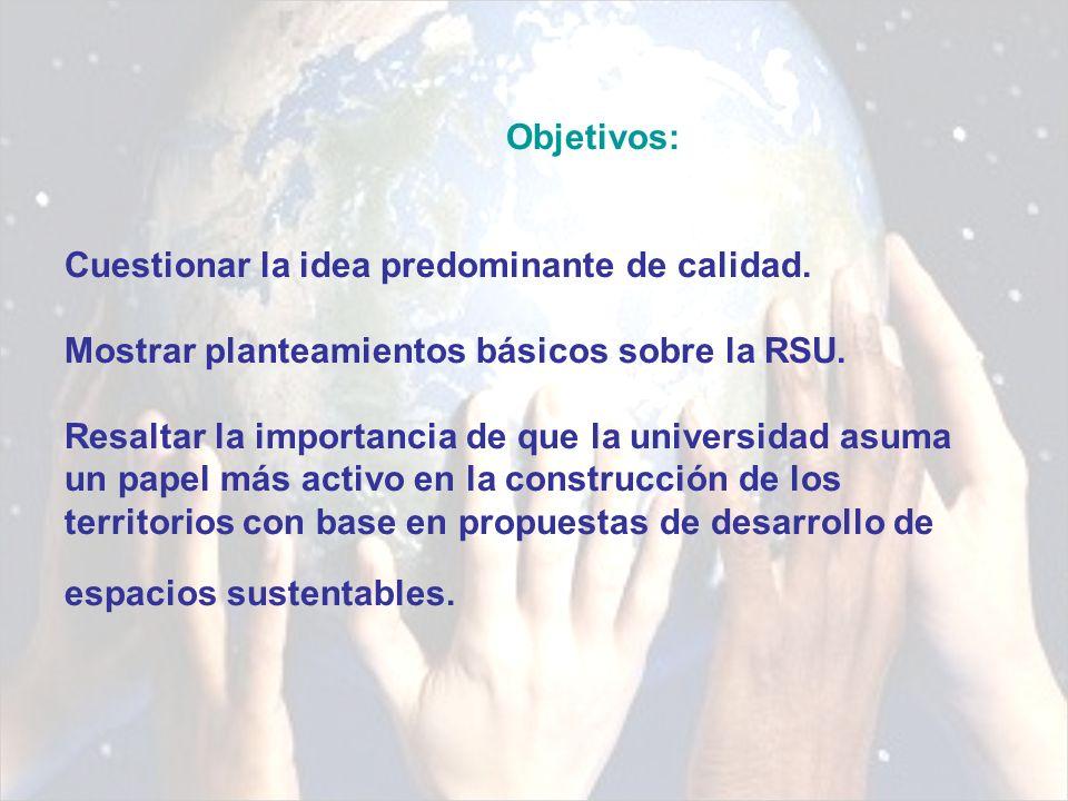 Responsabilidad Social de la Universidad (RSU Gestión ética de los impactos universitarios (Vallaeys, 2007)