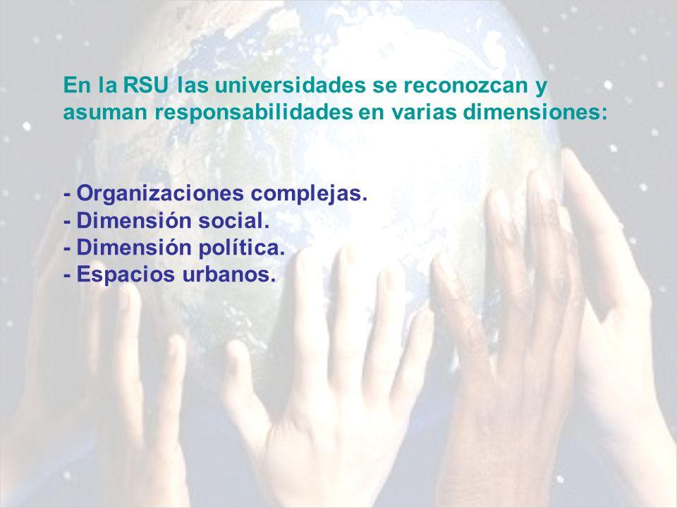 Como organizaciones complejas: Integradas por diversas instancias, actores y funciones pero que tiene una identidad, por tanto, se deberá expresar en cuanto universidad y no sólo como con base en fracciones de sus componentes.
