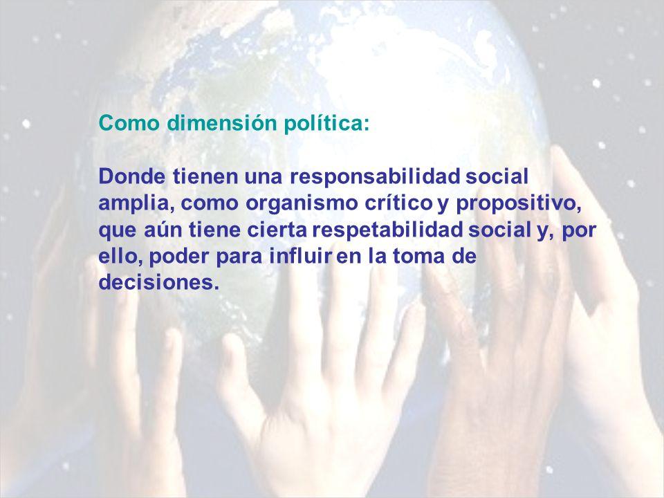 Como espacio urbano: Siendo consecuentes con la idea de responsabilidad social, las universidades podrían promover proyectos territoriales que tuviesen como principales atributos la participación social y la sustentabilidad.