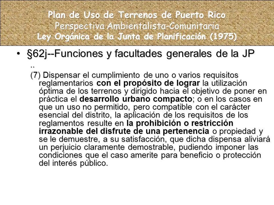 §62j--Funciones y facultades generales de la JP§62j--Funciones y facultades generales de la JP..