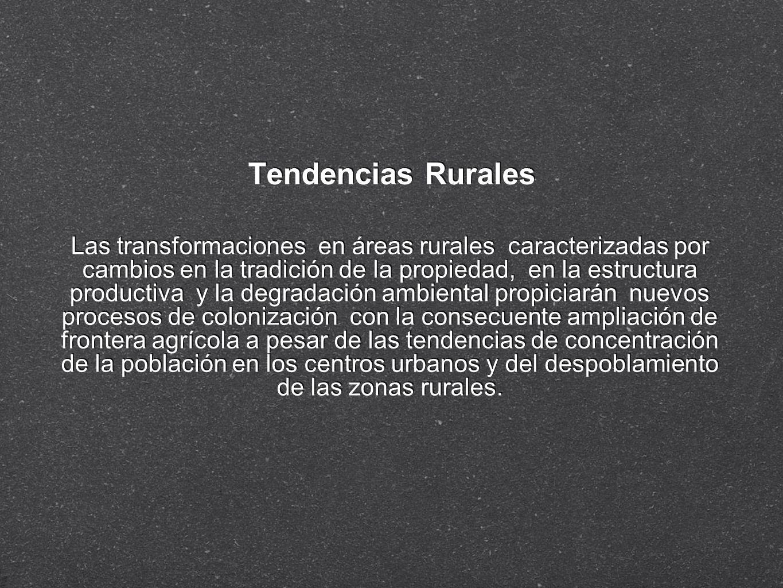 Tendencias Rurales Las transformaciones en áreas rurales caracterizadas por cambios en la tradición de la propiedad, en la estructura productiva y la