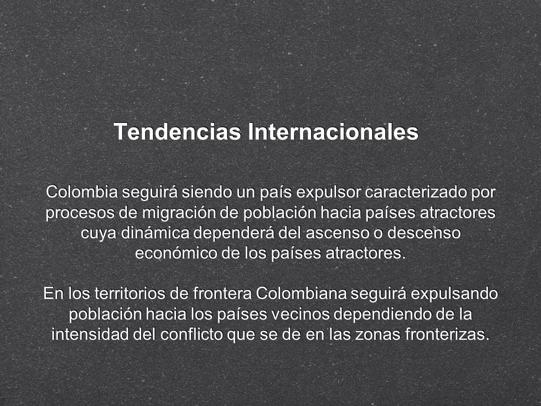 Tendencias Internacionales Colombia seguirá siendo un país expulsor caracterizado por procesos de migración de población hacia países atractores cuya