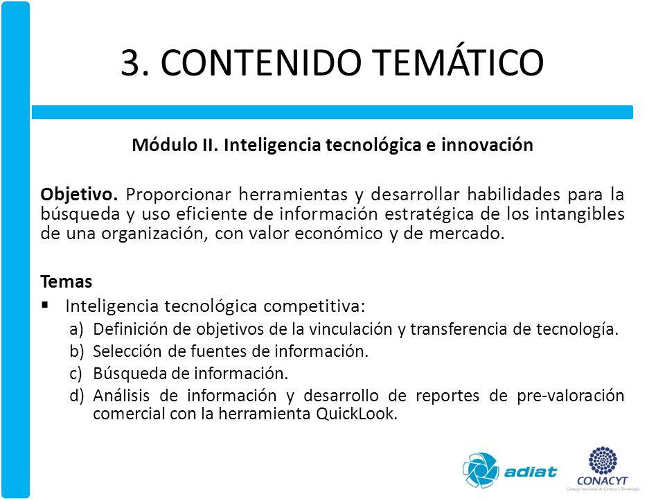 3.CONTENIDO TEMÁTICO Módulo III. Creación de valor a partir del capital intelectual Objetivo.