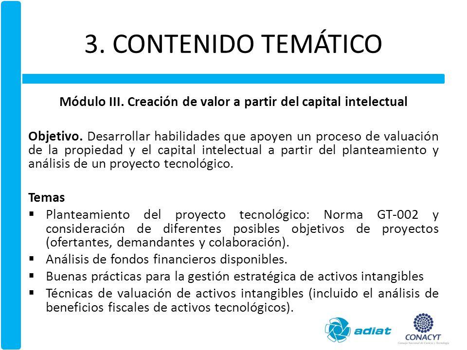3.CONTENIDO TEMÁTICO Módulo IV.