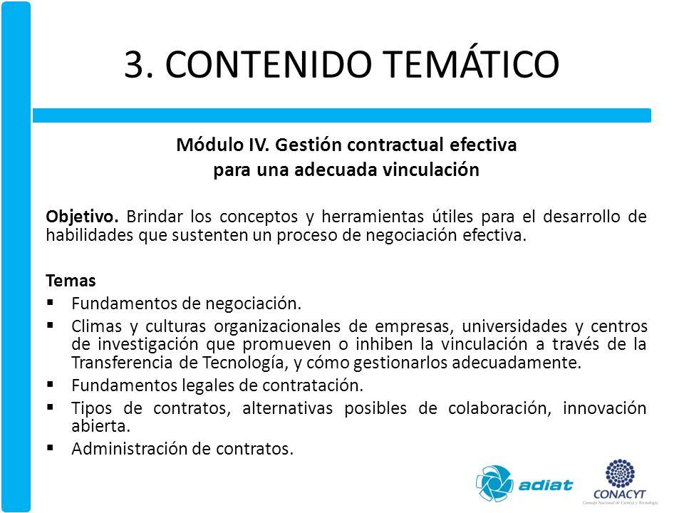 3.CONTENIDO TEMÁTICO Módulo V.