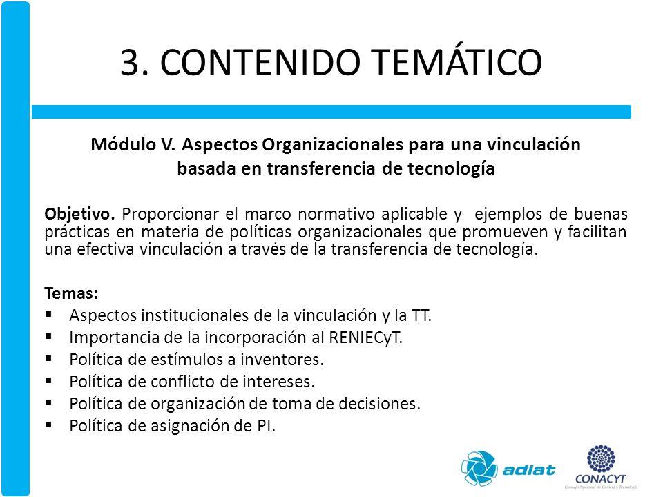 3.CONTENIDO TEMÁTICO Módulo VI (adicional).