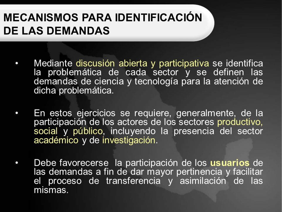 TALLER CARTERA NACIONAL DE DEMANDAS DE CIENCIA Y TECNOLOGÍA (CNDCYT) www.cndcyt.com Página WEB: