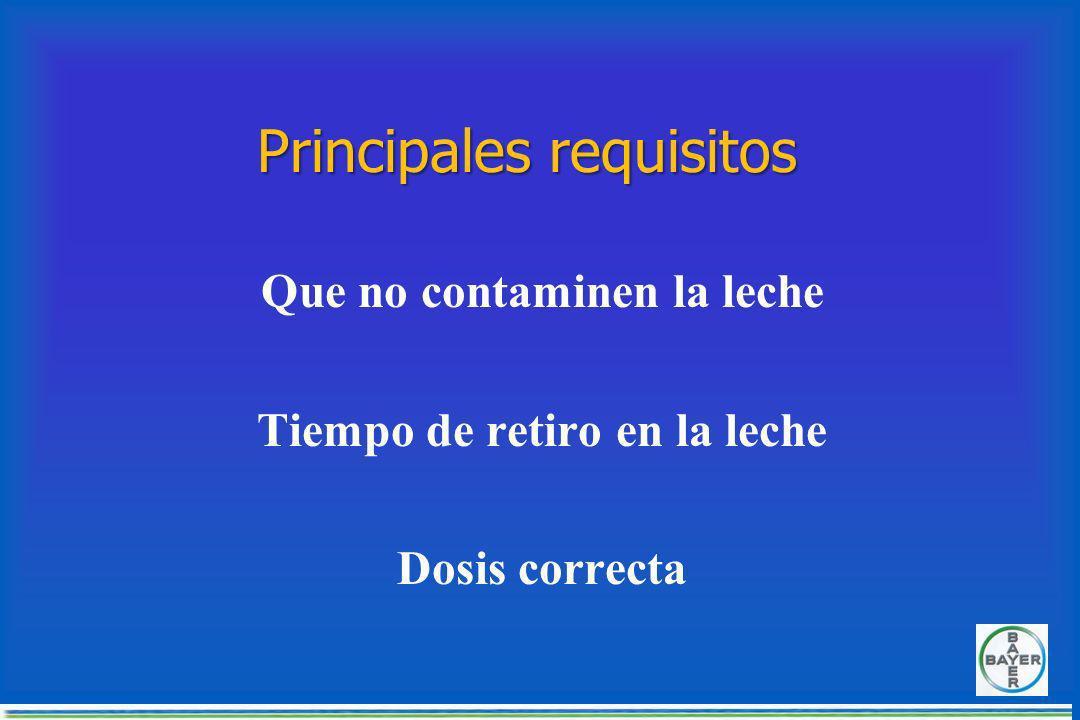 CONTROL DE MOSCAS EN LOS BOVINOS Productos pour- on Productos para diluir en agua aplicación por aspercion o inmersion