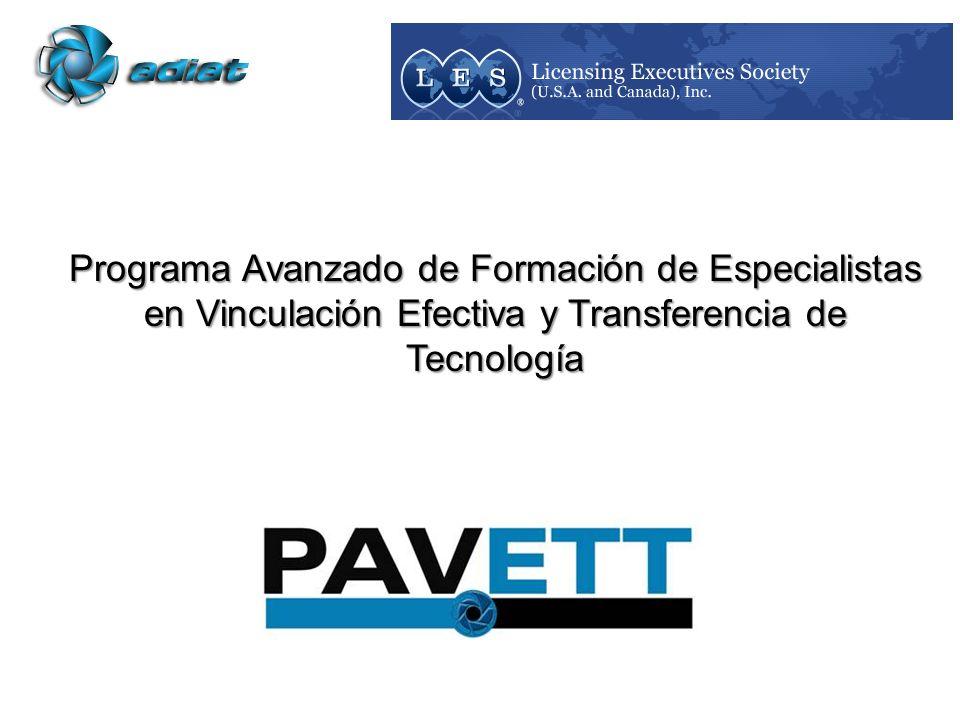 Programa Avanzado de Formación de Especialistas en Vinculación Efectiva y Transferencia de Tecnología