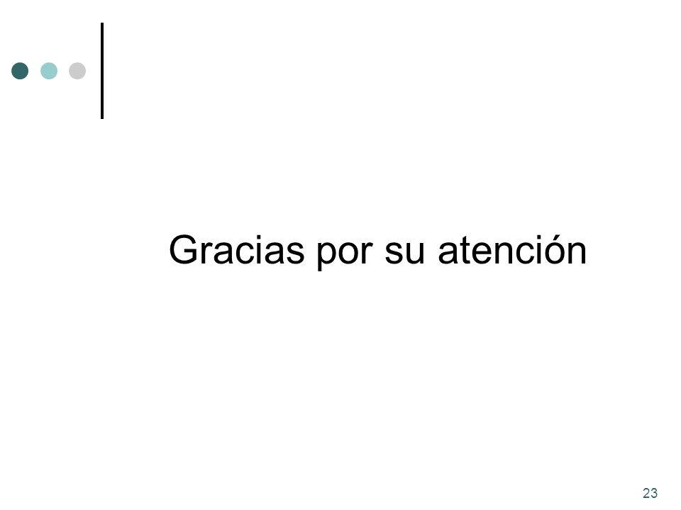 23 Gracias por su atención