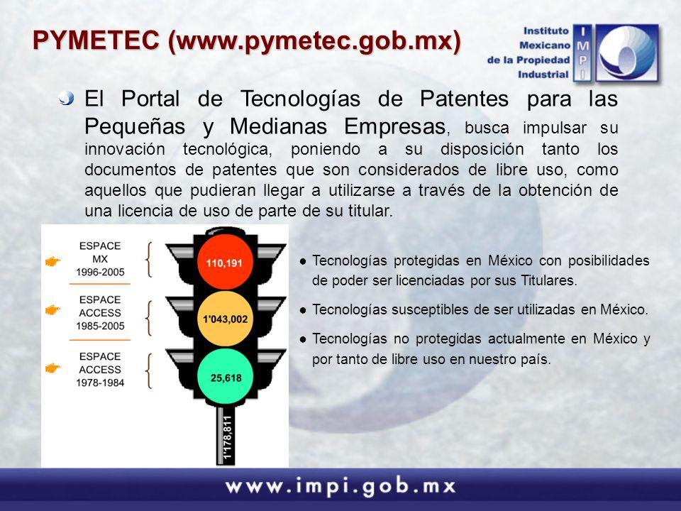 Tecnologías protegidas en México con posibilidades de poder ser licenciadas por sus Titulares. Tecnologías susceptibles de ser utilizadas en México. T