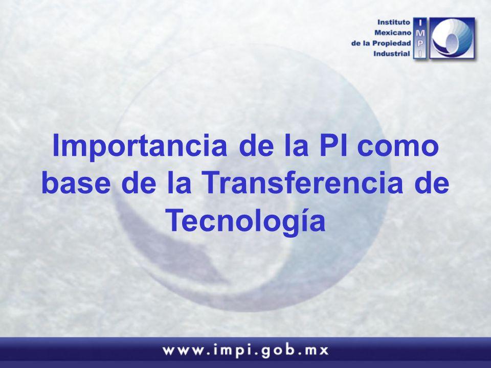 Importancia de la PI como base de la Transferencia de Tecnología
