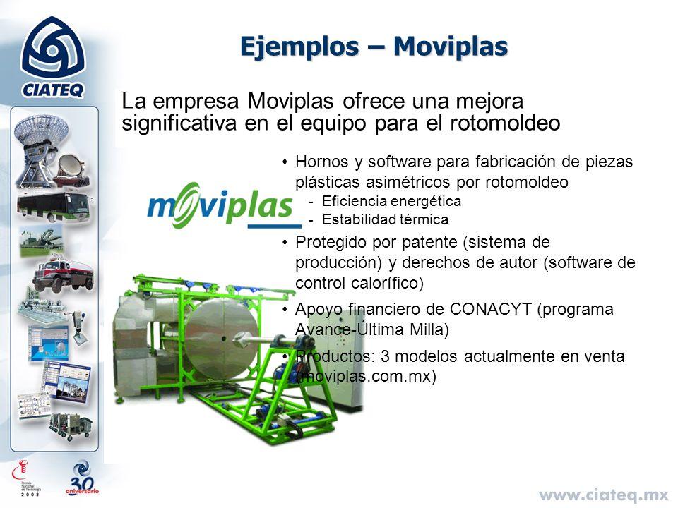 Ejemplos – Moviplas La empresa Moviplas ofrece una mejora significativa en el equipo para el rotomoldeo Hornos y software para fabricación de piezas p