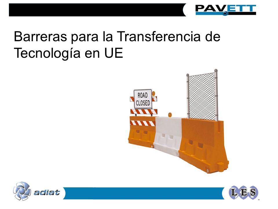 Barreras para la Transferencia de Tecnología en UE