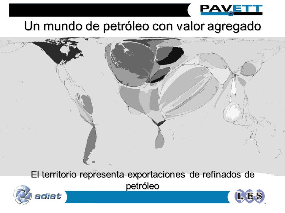 Un mundo de petróleo con valor agregado El territorio representa exportaciones de refinados de petróleo