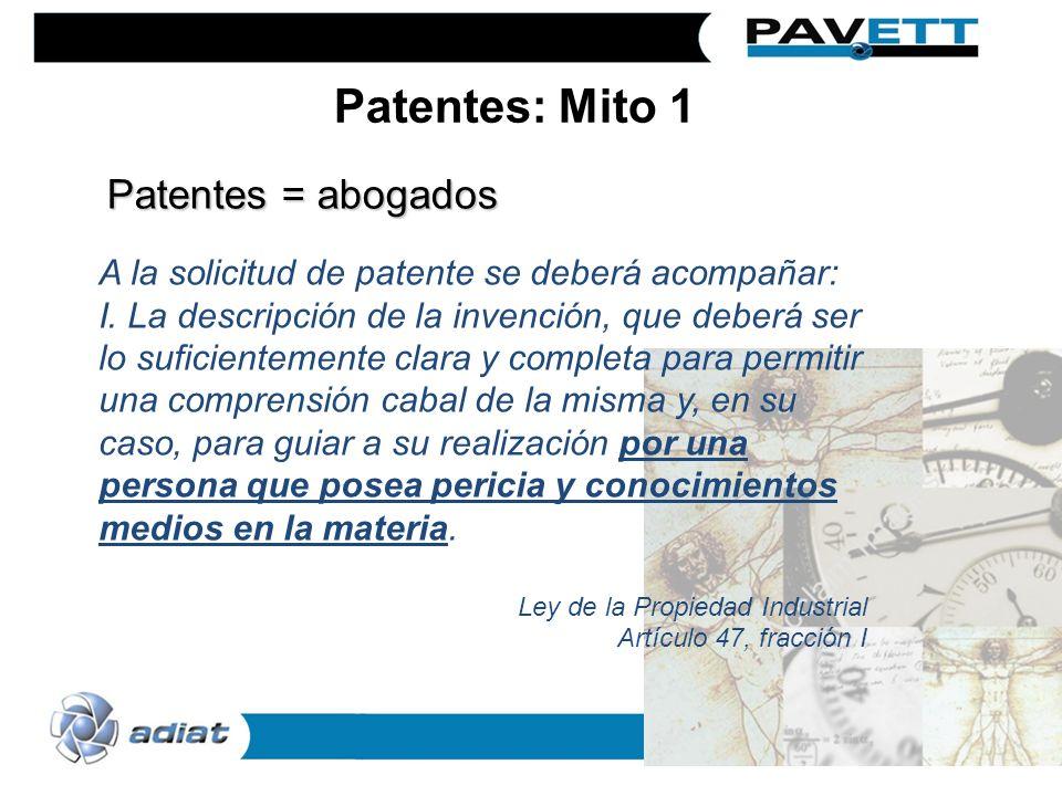 A la solicitud de patente se deberá acompañar: I. La descripción de la invención, que deberá ser lo suficientemente clara y completa para permitir una