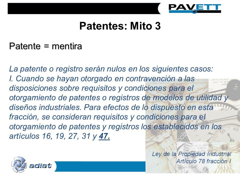 La patente o registro serán nulos en los siguientes casos: I. Cuando se hayan otorgado en contravención a las disposiciones sobre requisitos y condici