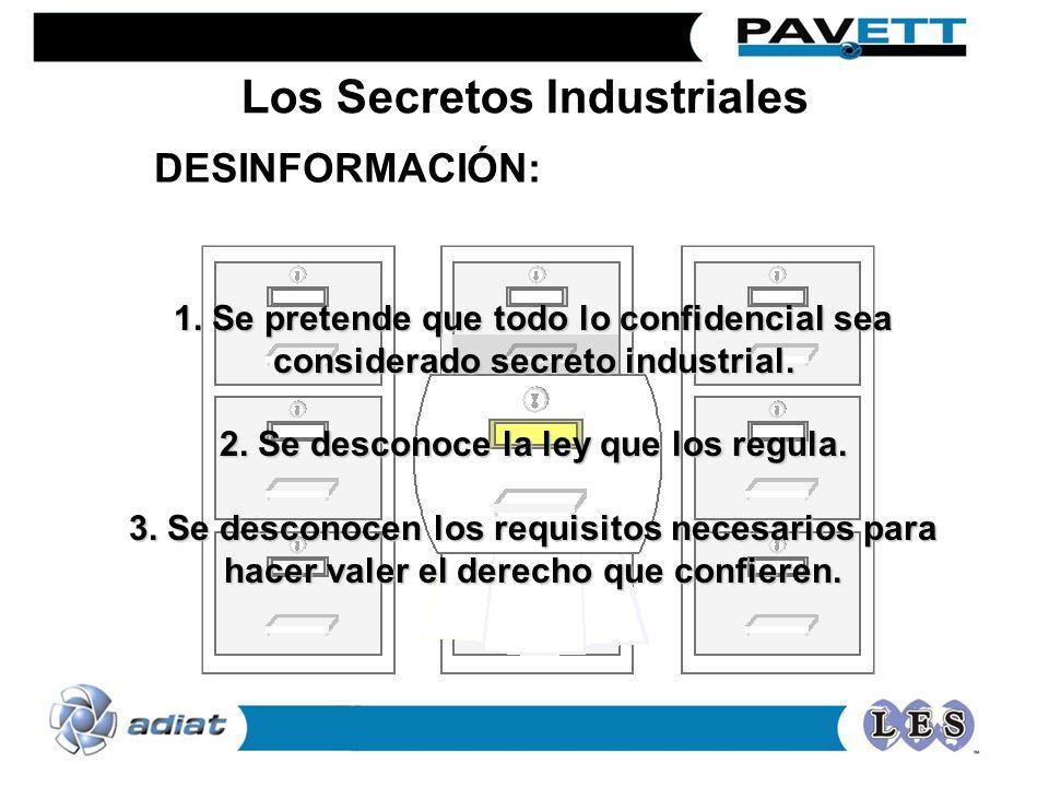 1. Se pretende que todo lo confidencial sea considerado secreto industrial. 2. Se desconoce la ley que los regula. 3. Se desconocen los requisitos nec